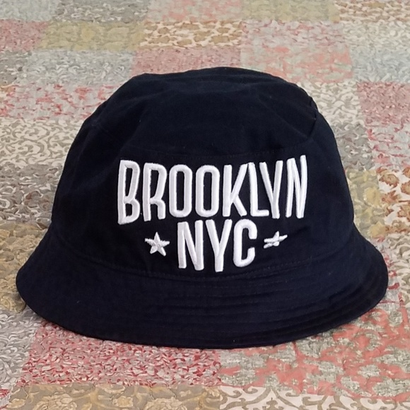 114e36c75be ... discount code for navy blue white bucket style hat brooklyn nyc daf90  0da84